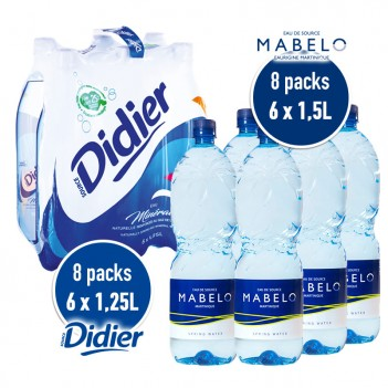 8 PACKS EAU MABELO + 8...