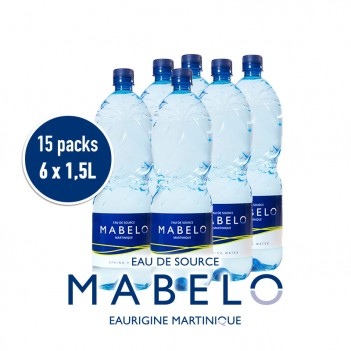 15 PACKS EAU MABELO :...